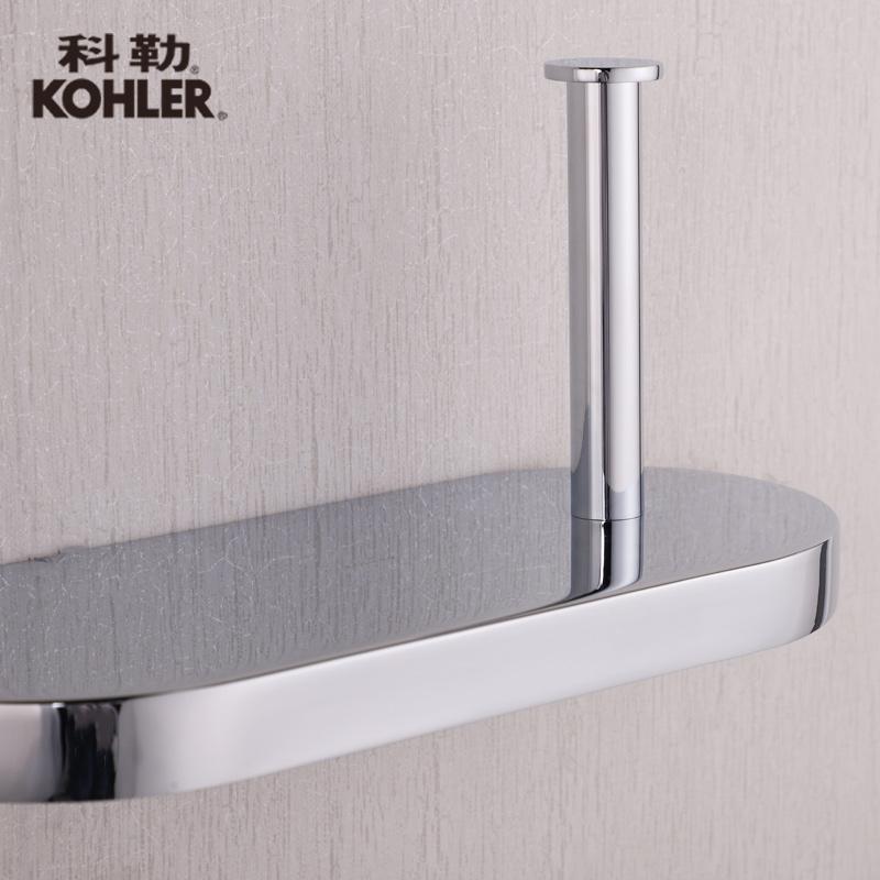厕纸架浴室配件 垂直型 欧宝卫生纸架 CP 37299T K 科勒卫生纸架
