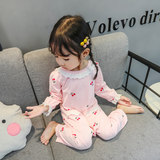 Children's Siamese Pajamas Summer Baby Air Conditioning Clothing Thin Long Sleeve Spring and Autumn 2 Anti-Kick 3 Baby One Year Old Girl Home