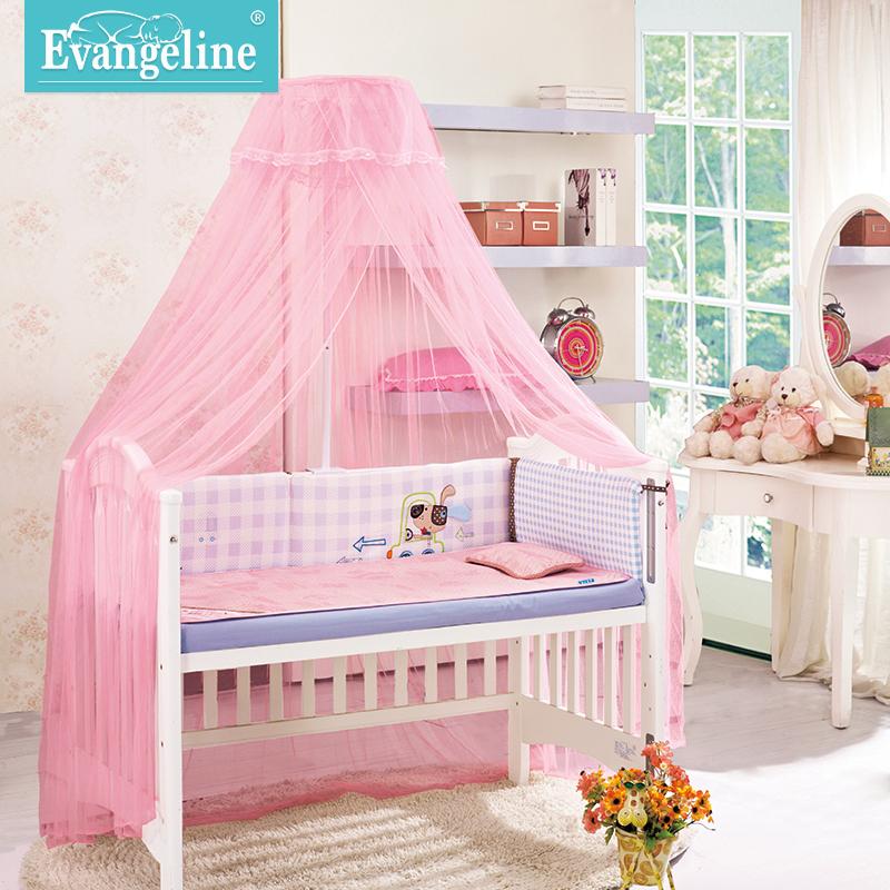 婴儿床蚊帐带支架儿童蚊帐宝宝蚊帐落地夹式婴儿蚊帐罩通用