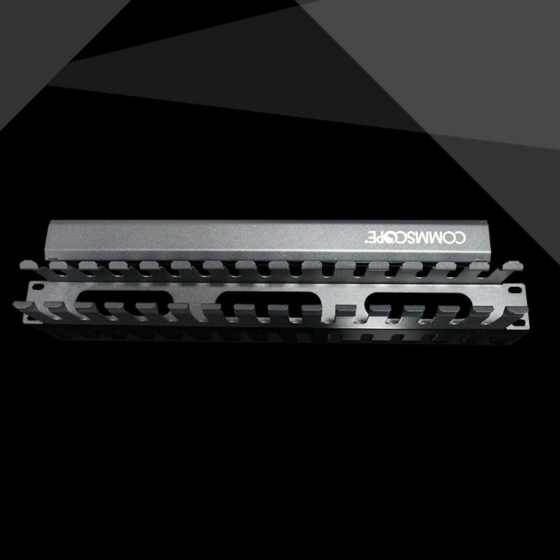 增票安普康普1427632-1 15对30口网络电话金属理线架理线环1U机柜电话网络水平理线器配线架理线槽