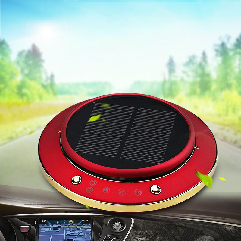 车载空气净化器加湿器除雾霾pm2.5太阳能车内异味除甲醛汽车用品