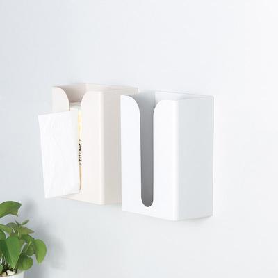 家用茶几抽纸筒收纳架厨房客厅创意简约卫生纸架免打孔粘贴纸巾盒 - 图1