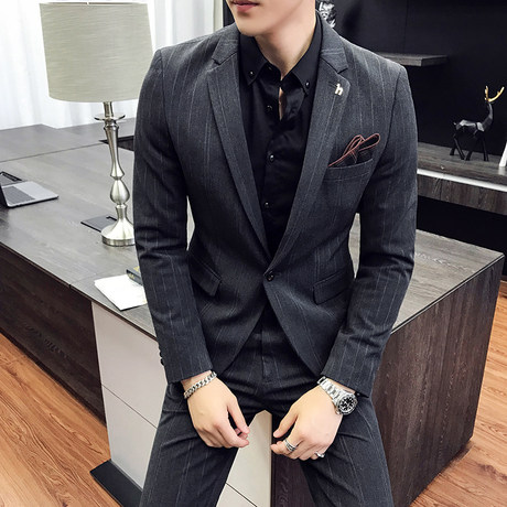 Spring And Autumn Suits Male Korean Youth Trend Trendy Men S Wedding Groomsmen Dress Slim Suit Suit