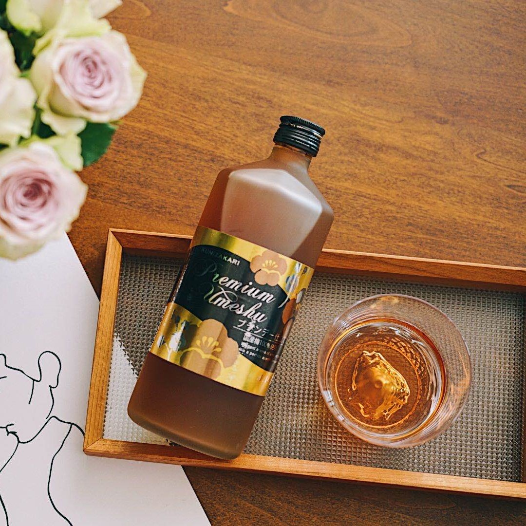 女生微醺酒配礼盒 送富士山杯 日本百年酒造国盛白兰地梅酒 720ml