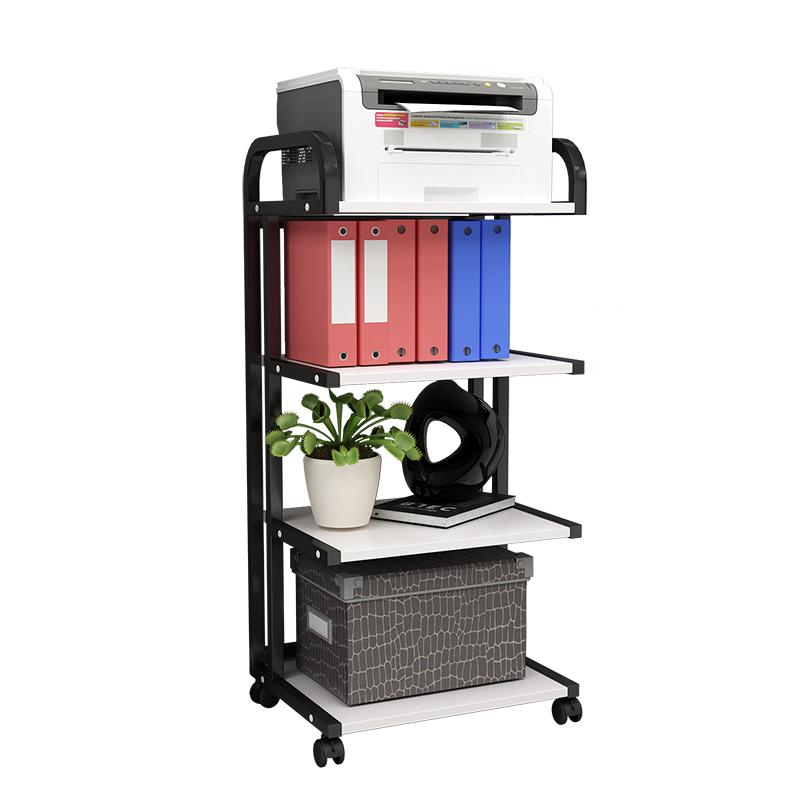 打印机架子多层置物架复印机托架现代落地移动办公桌主机箱收纳架
