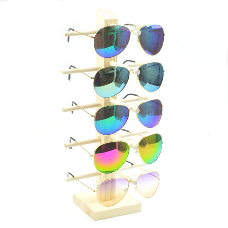 眼镜展示架近视眼镜架眼睛展示架原木质太阳镜陈列支架子 包邮