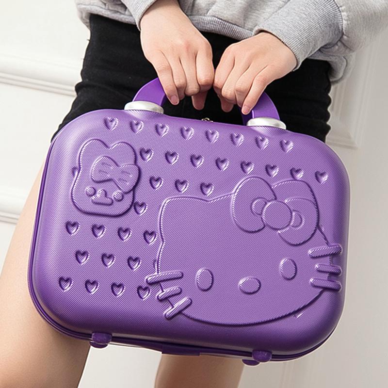厂家直批韩版14寸化妆箱女士手提箱结婚箱子小行李箱20寸登机箱包