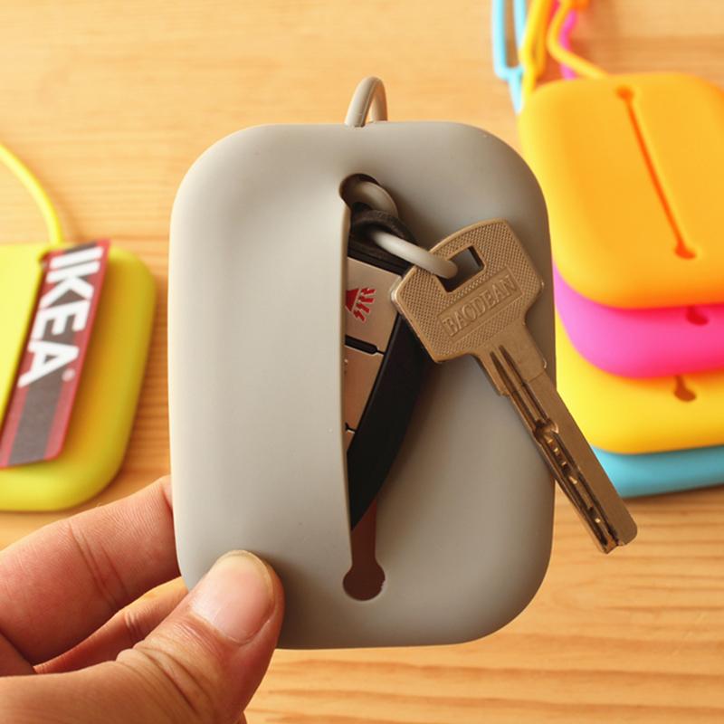 硅胶公交卡套男女钥匙包创意多功能汽车钥匙扣卡包银行门禁饭卡夹