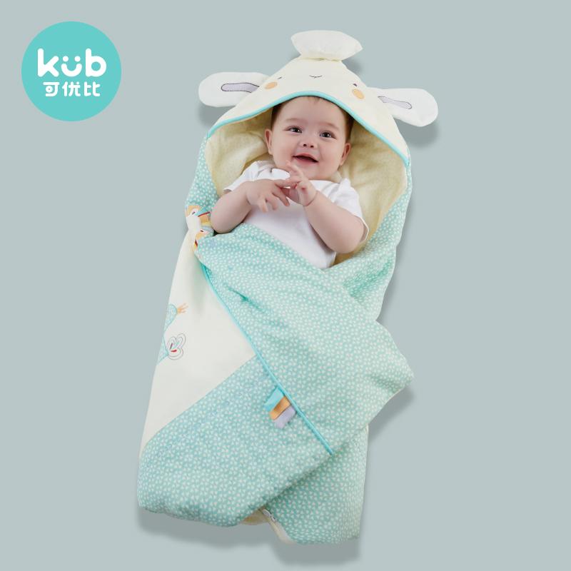 可优比婴儿包被 可脱胆 秋冬夹棉初生婴儿襁褓包纯棉新生婴儿抱被