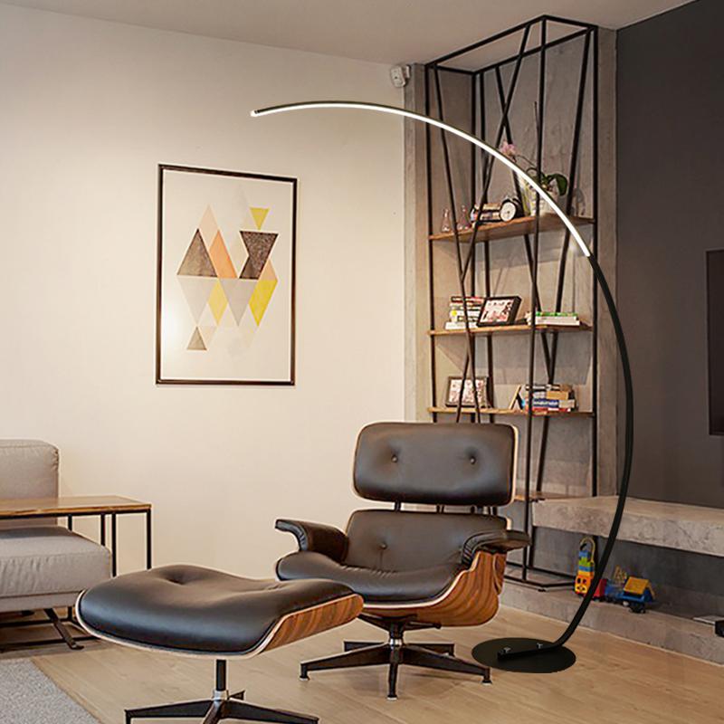风格客厅落地灯钓鱼灯创意网红卧室弯曲沙发立式书房台灯 ins 北欧