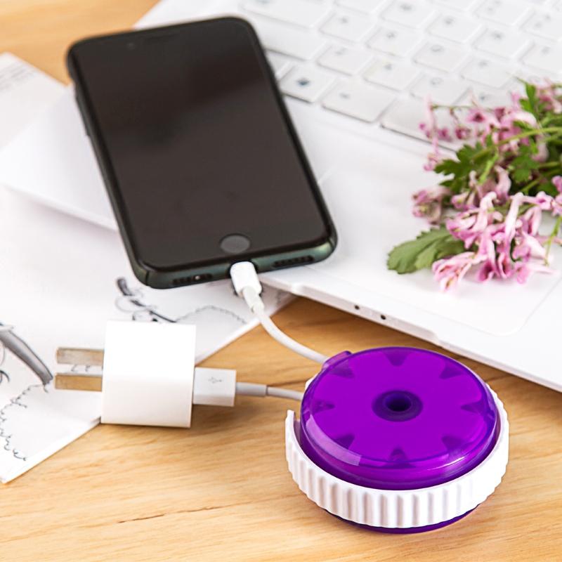 日本KM充電器線收納盒資料線集線盒 滑鼠線繞線器 耳機收納理線器