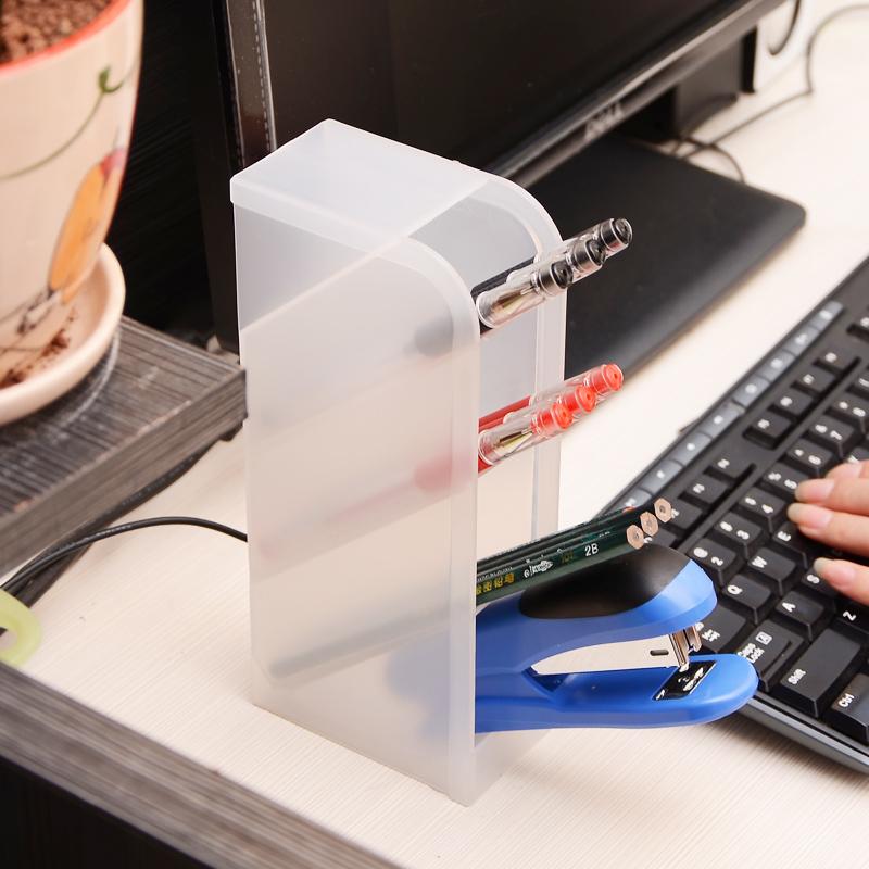 日本进口办公室创意笔筒笔座笔插多格桌面收纳盒文具整理盒收纳筒