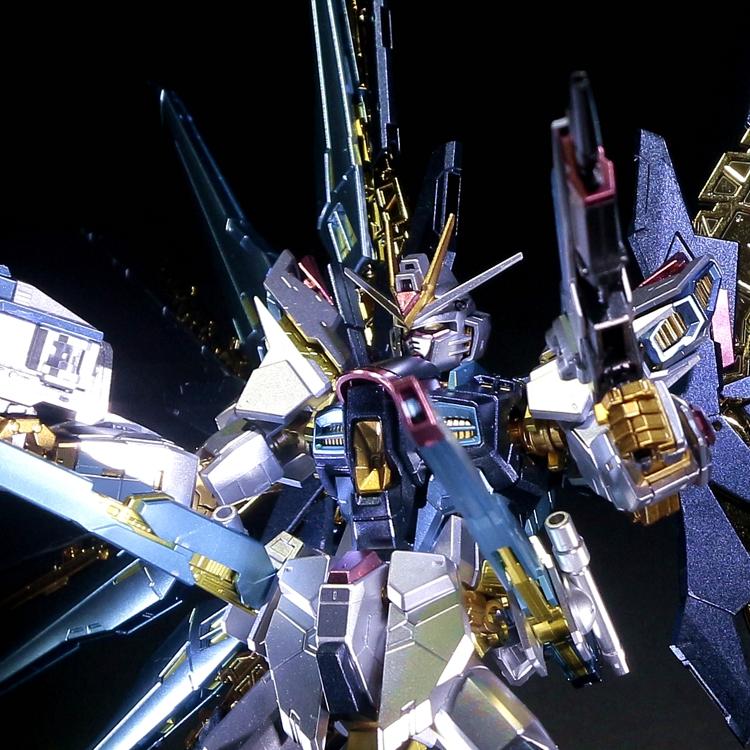 千手万代金属着色RG14 1:144 强袭自由 高达 敢达模型新年礼物