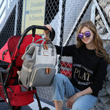 dokoclub Mummy bag large capacity multi-purpose shoulder bag 2020 new fashion women's doubles Baoma out maternal and child package