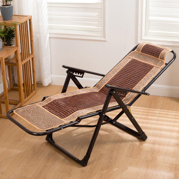阳台家用折叠椅折叠椅子沙滩靠背麻将椅办公室成人躺椅竹椅午休椅【图4】