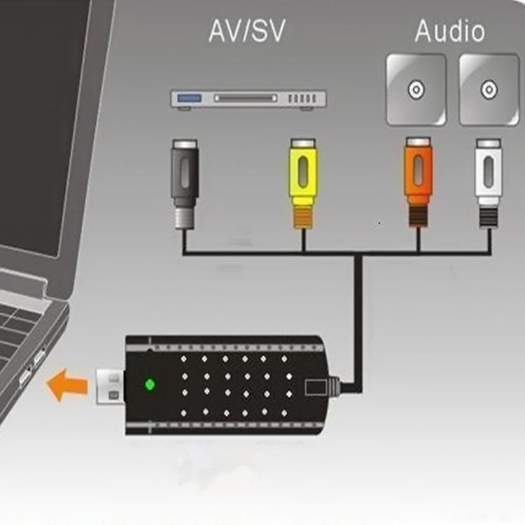 免驱USB视频采集卡AV音视频电视笔记本1路播放录制USB监控采集卡