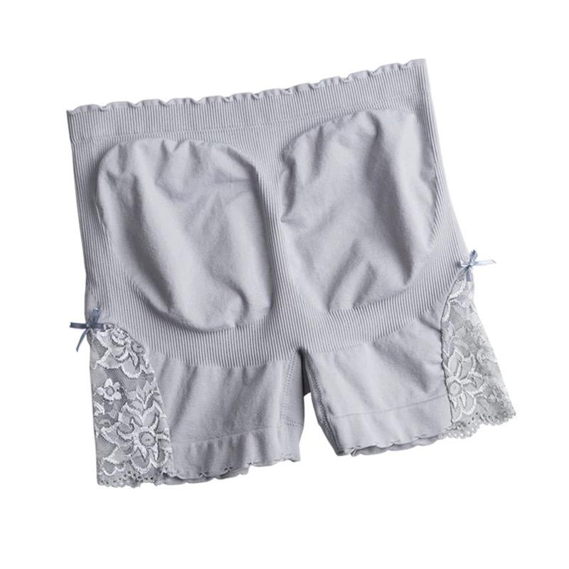 安全裤3条防走光夏款纯棉舒适平角高腰收腹无痕蕾丝打底裤内外穿