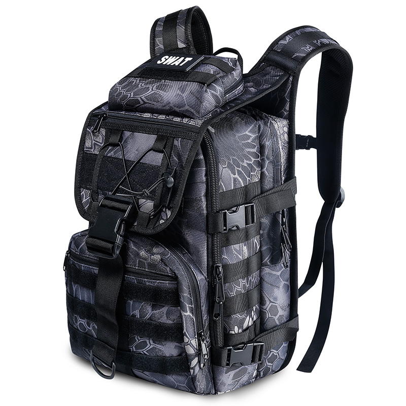 战地户外登山包男多功能防水战术背包攻击包军迷背囊迷彩双肩包