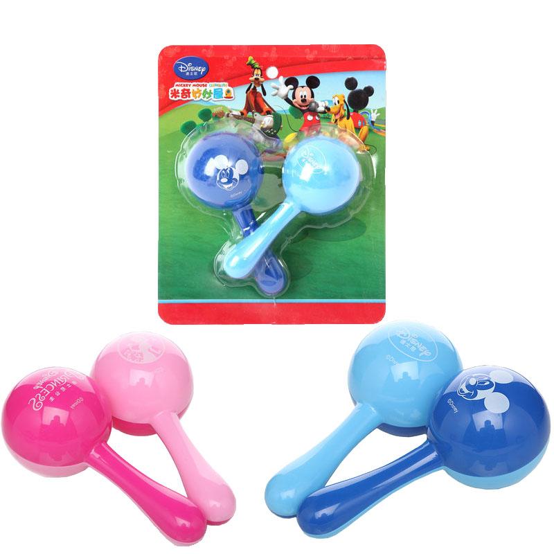 迪士尼儿童沙锤宝宝摇铃沙球表演音乐器玩具幼儿园礼物沙铃包邮