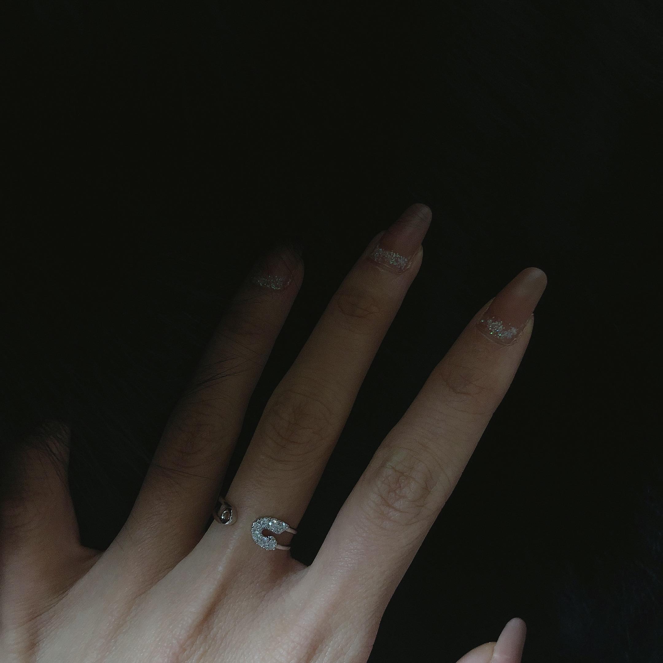 小众设计师纯银甜美礼物欧美百搭个姓别针开口戒指女 JollyMolly
