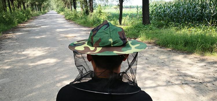 养蜂帽子蜂帽面纱遮脸防蜂帽半身专用户外夏季收蜂帽全套蜜蜂工具