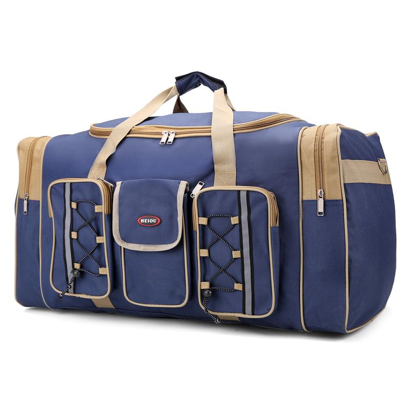 大容量手提旅行包男女单肩包搬家包多口袋行李袋防水旅游包大号包