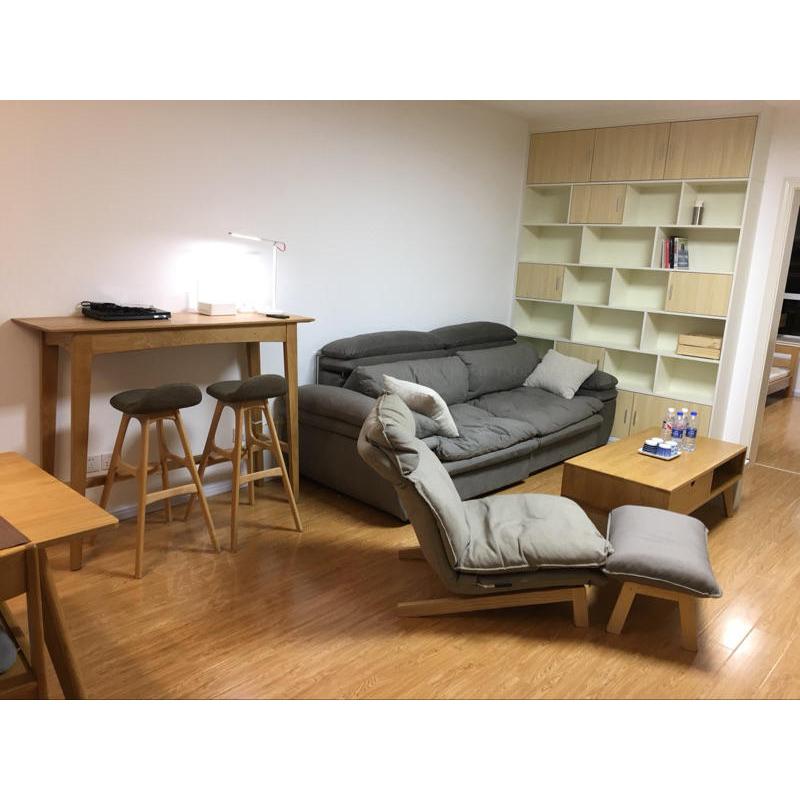高凳子实木吧台椅北欧现代简约创意美式酒吧凳开店定制高脚椅家用