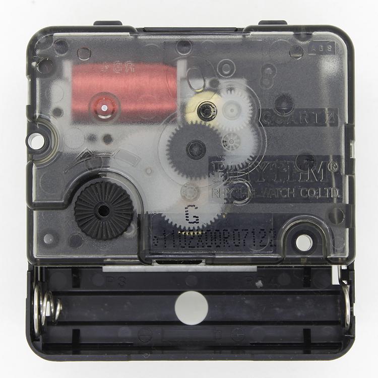 麗聲RHYTHM掃秒機芯靜音掛鐘芯石英鐘配件十字繡鍾DIY機芯送電池