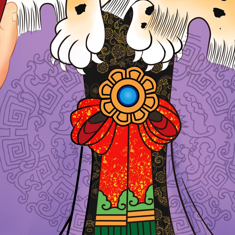 高清精裱辛丑太歲楊信大將軍2021年牛年值年太歲畫像化太歲神像畫