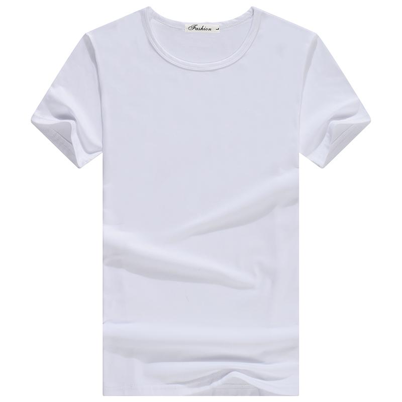元体恤 9.9 领纯色圆领修身打底衫夏季衣服半袖 V 恤男士 t 牛臣仕短袖