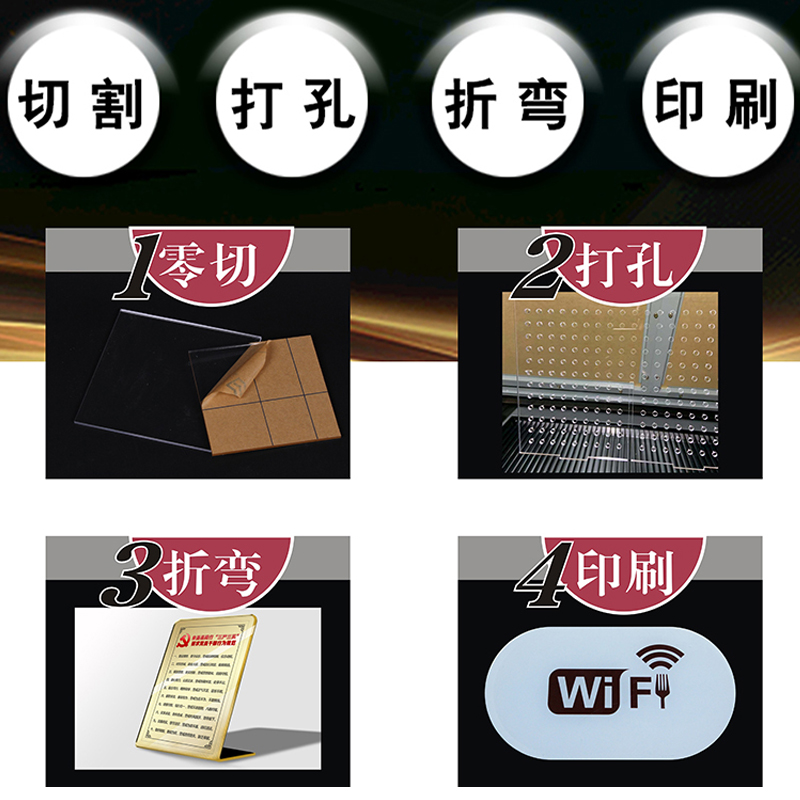 切割 diy 定制透明塑料亚克力板有机玻璃定做手办展示盒鱼缸盖隔板