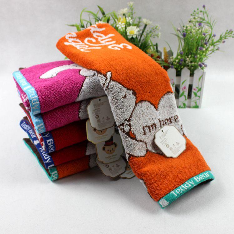 正品潔麗雅泰迪熊系列泰迪和安琪純棉毛巾柔軟舒適強吸水面巾8895