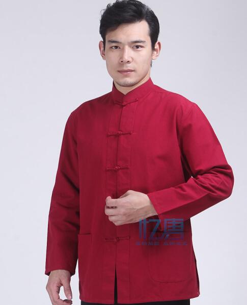 中国风男装唐装长袖男士上衣春秋装中式男装居士服茶服功夫装
