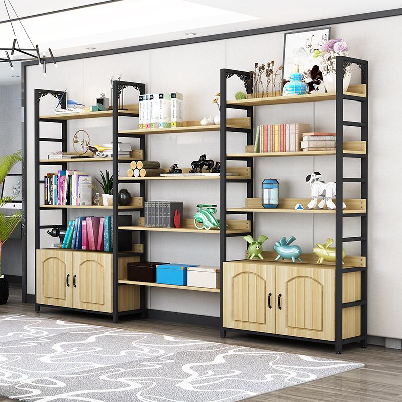 書架書柜簡約現代客廳置物架落地貨架辦公室架陽臺收納陳列柜訂制