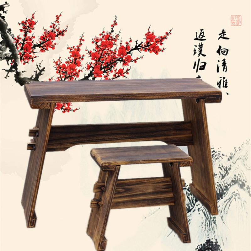 古琴桌凳带共鸣箱组装拆卸便携桌凳书法桌国学桌茶桌茶台桐木炭烧