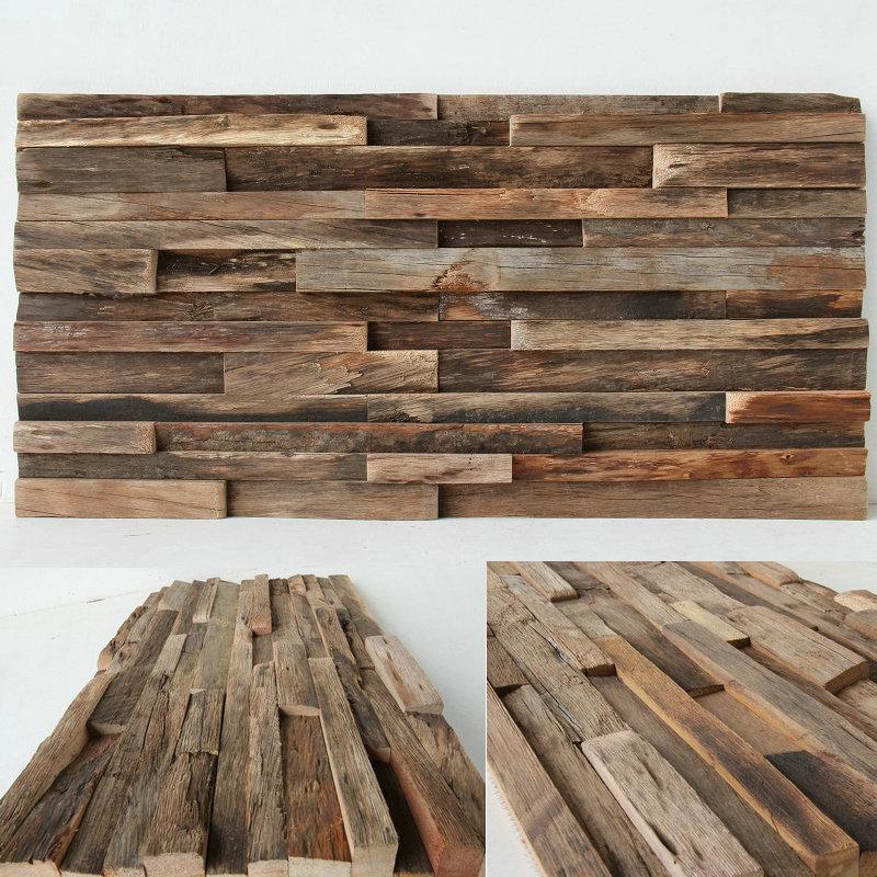 大禹天然木材马赛克电视背景墙客厅玄关文化木拼图墙贴船木马赛克
