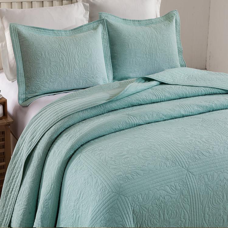 双面纯棉床盖单件全棉绗缝被三件套衍缝夹棉床单榻榻米铺垫大炕盖