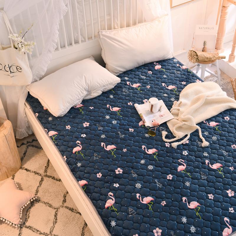 米 1.2 学生宿舍单人褥子 1.5 床 1.8m 榻榻米床垫床褥珊瑚绒法兰绒双人