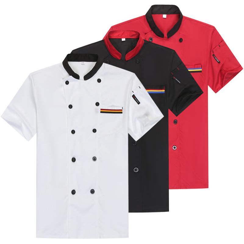 厨师服短袖酒店西餐厅饭店学校食堂厨房厨师工作服男长袖秋冬季款