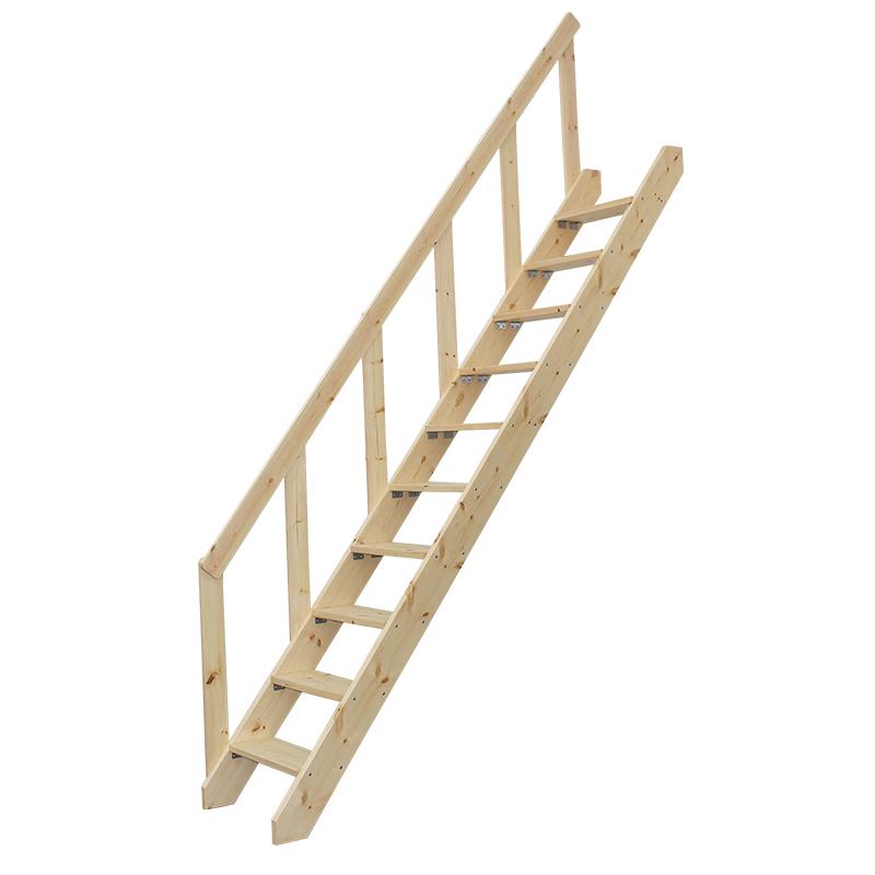 实木阁楼楼梯别墅复式旋转楼梯纯松木直梯家用登高梯单木质梯子