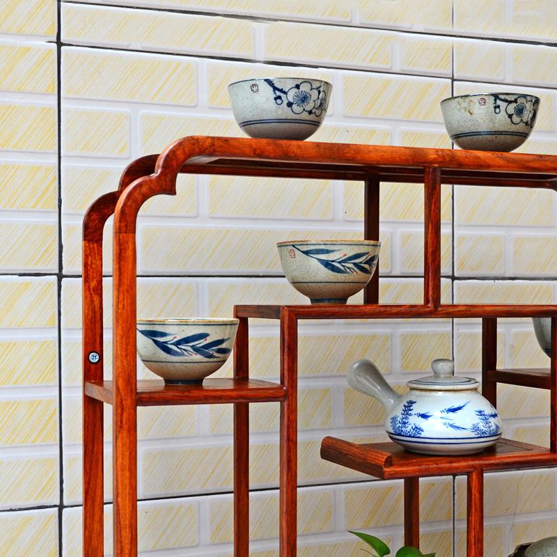 茶具架子挂墙架客厅小博古架禅意壁挂中式实木茶壶摆放紫砂壶展示