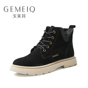 【戈美其】冬季新款真皮休闲短靴女鞋