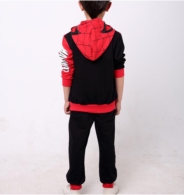 蜘蛛侠童装两件套儿童3-4-5岁6男童7春秋8款款卫衣套装中大童长袖