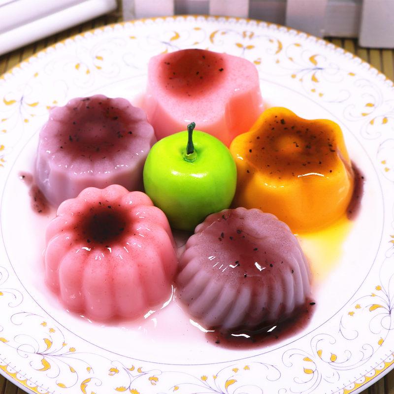 有莱客500g布丁粉果冻粉预拌粉草莓芒果口味自制甜品布丁原料包邮高清大图