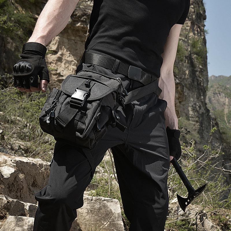 军迷战术腿包男多功能腿挂户外野外特种兵骑行机车绑腿包运动腰包