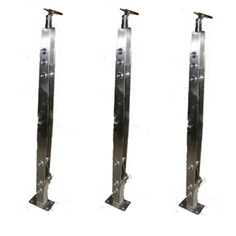 304不锈钢工程玻璃立柱楼梯扶手护栏栏杆玻璃护栏201家用不锈钢