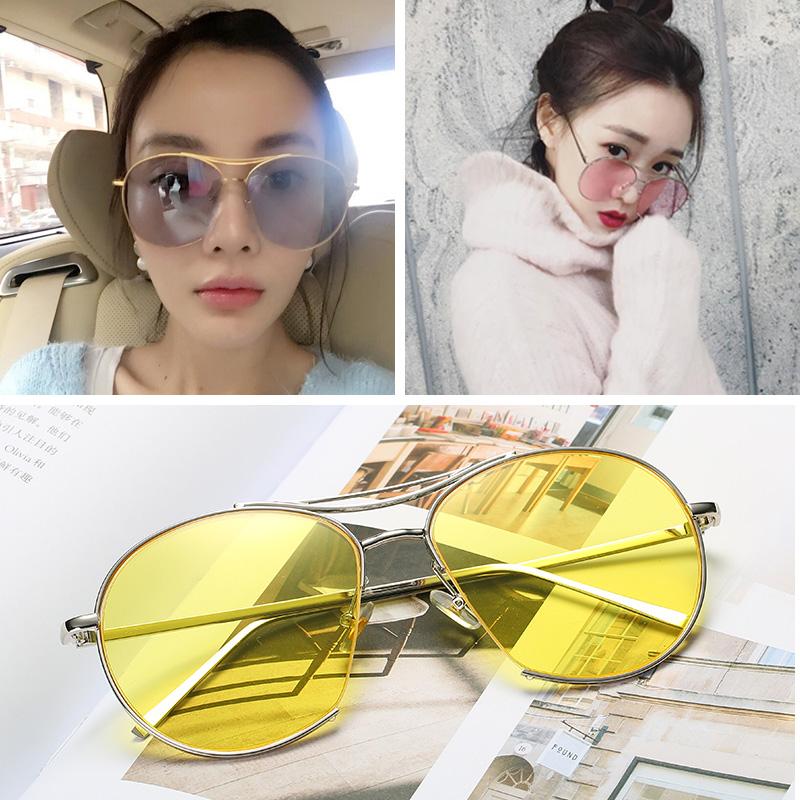李小璐明星同款太阳镜女粉色半透明海洋片时尚墨镜男士潮人眼镜