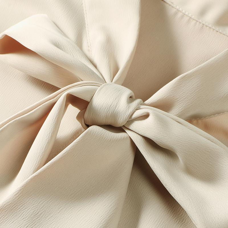 蝴蝶结白衬衫女长袖2018秋装新款加绒保暖冬上衣职业打底雪纺衬衣