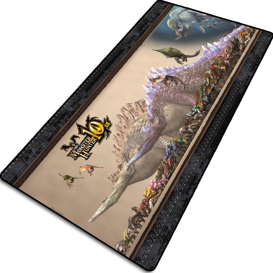 怪物猎人世界鼠标垫游戏周边电竞工作室电脑桌垫超大键盘写字桌垫