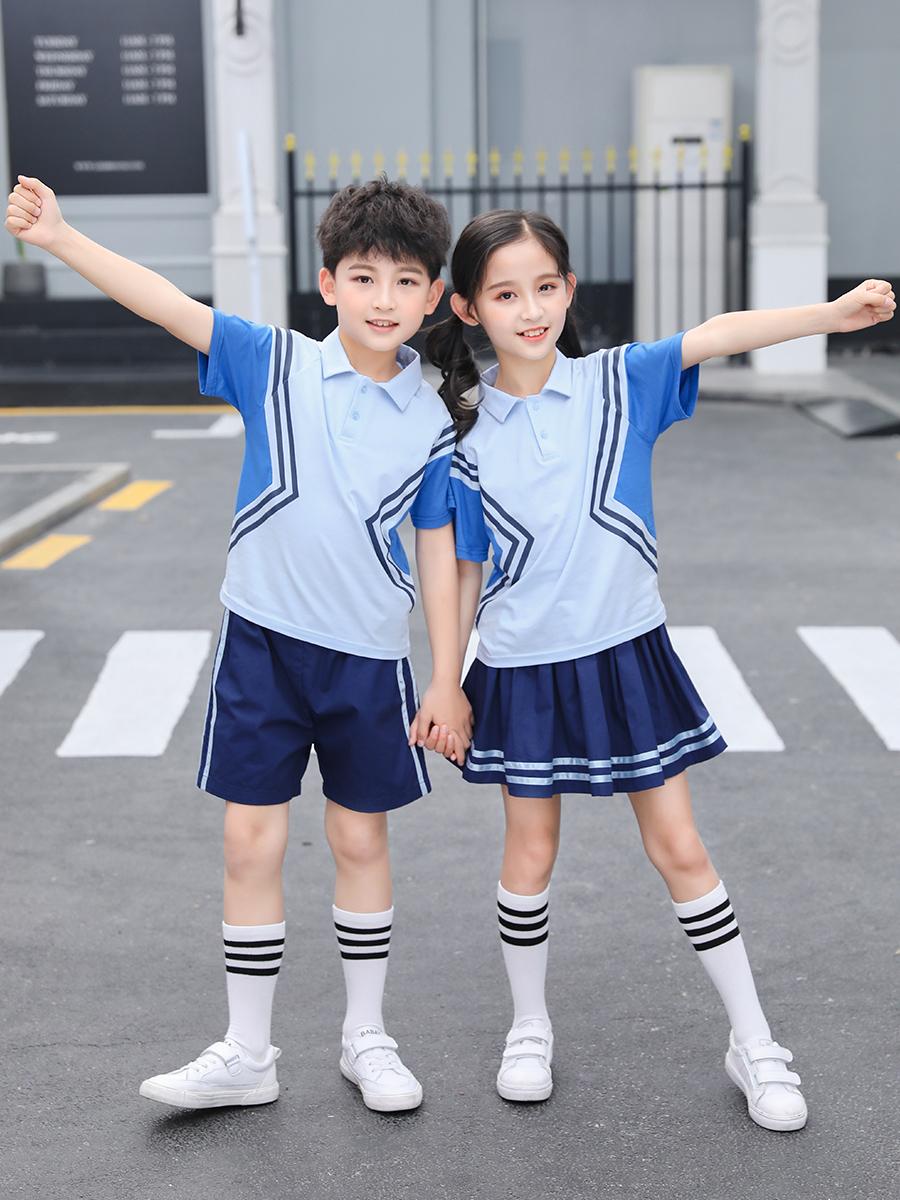 幼儿园园服春秋老师中学男女儿童运动服校服套装学院风小学生班服